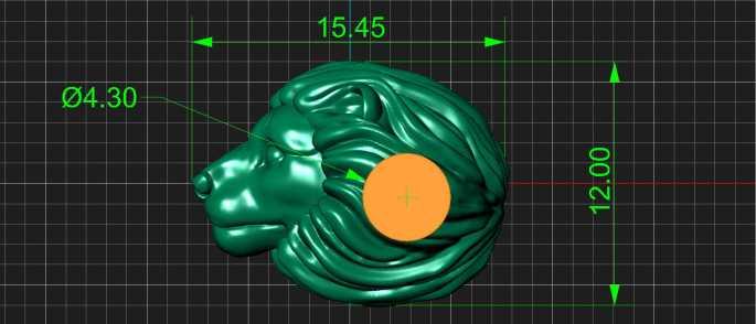 Прототип бусины Лев