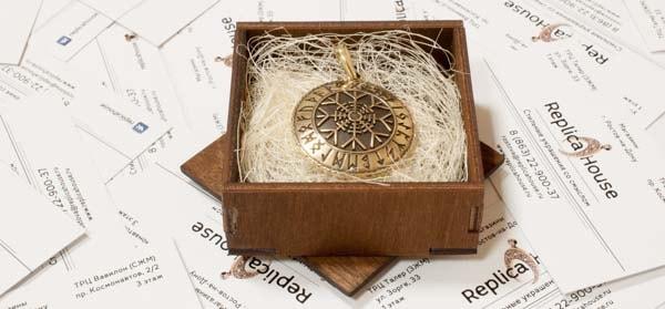 Агисхьяльм в коробочке с сезалью