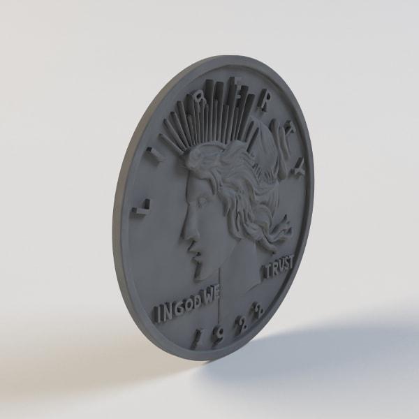 Бронзовая монета Харви Дента