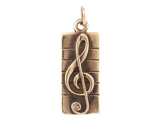Авторские украшения Кулон скрипичный ключ RH-886.jpg