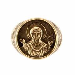 Богородица Знамение Оранта перстень с узором.