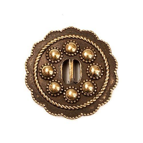 Фурнитура из бронзы Кончо №2 бронзовая пуговица RH_000510-min.jpg