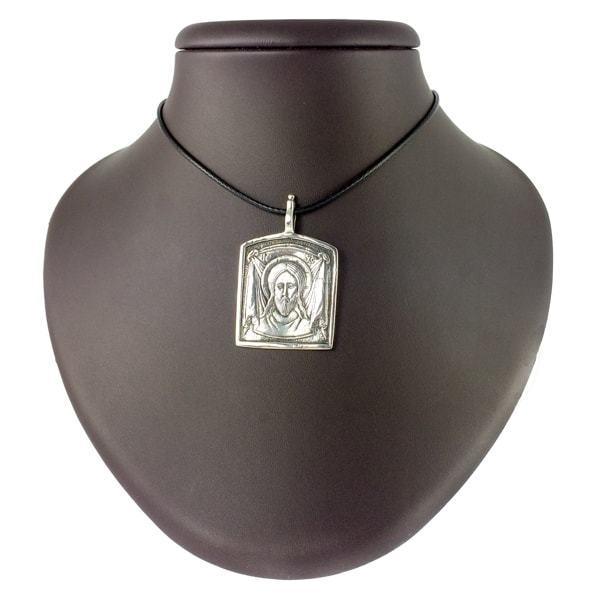 Кулоны из серебра Спас нерукотворный кулон spas-nerukotvorniy-serebryaniy-1.jpg