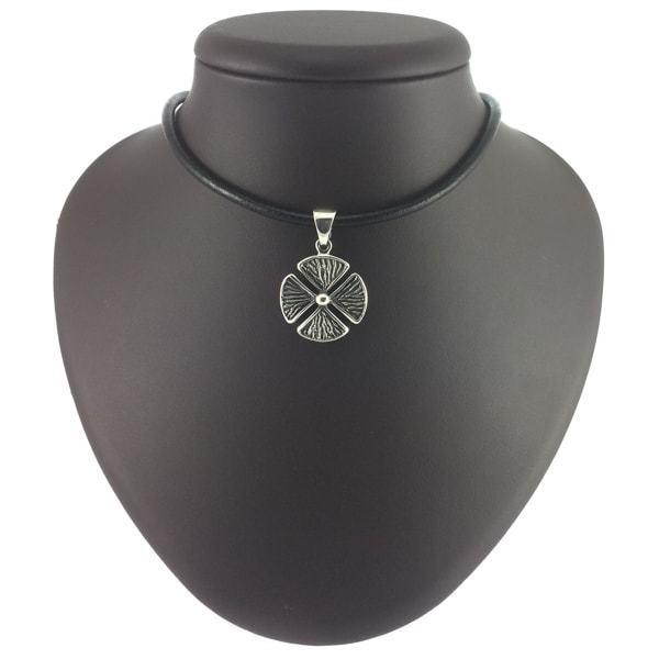 Кулоны из серебра Клевер четырехлистник кулон klever-simvol.jpg
