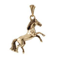 Золотая лошадь подвеска