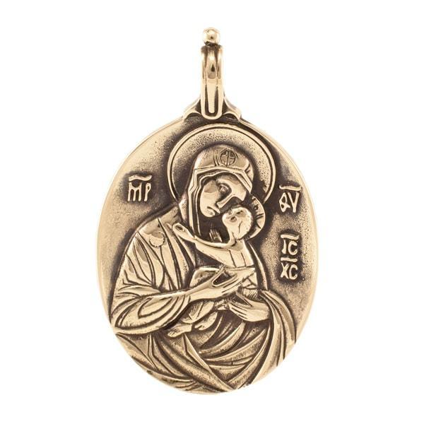 Православные украшения Богородица умиление кулон Bogorodica-umilenie-kulon.jpg